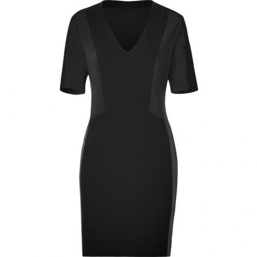 Rag & Bone Black Leather Panel Vanhi Dress