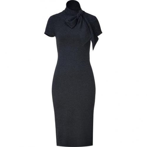 Ralph Lauren Black Black/Charcoal Melange Fine Gauge Short Sleeve Dress