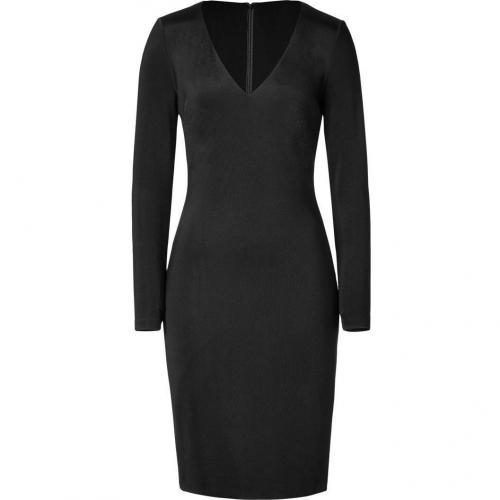 Ralph Lauren Black Black Luxe Weight Jersey Dress