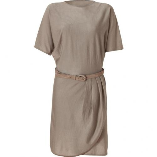 Ralph Lauren Black Mineral Cashmere-Silk Dress