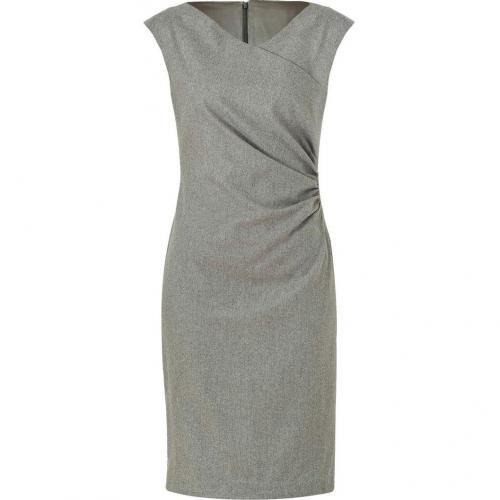 Ralph Lauren Black Steel Luxury Flannel Deidre Dress