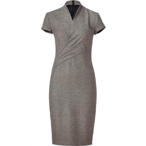 Ralph Lauren Collection Black/Cream/Red Glen Plaid Wool Douglas Dress