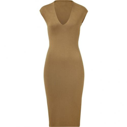 Ralph Lauren Collection Copper Deep V-Neck Dress
