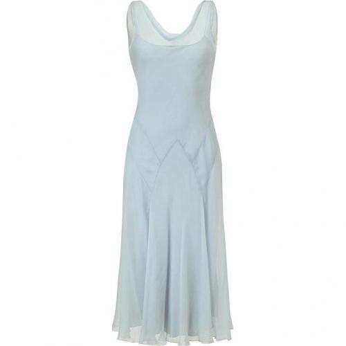 Ralph Lauren Collection Pale Blue Silk Chiffon Griswold Dress