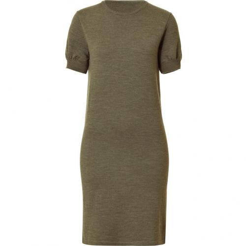 Ralph Lauren Fog Green Melange Lux Merino Knit-Dress