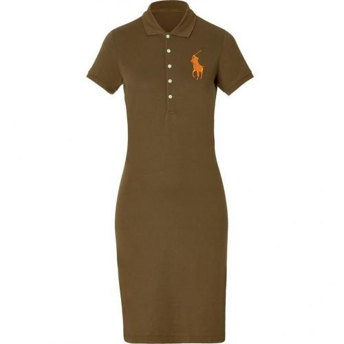 Ralph Lauren Olive Moss Stretch Mesh English Dress