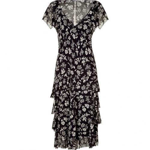 Ralph Lauren Rive Gauche Floral Printed Silk Georgette Dress