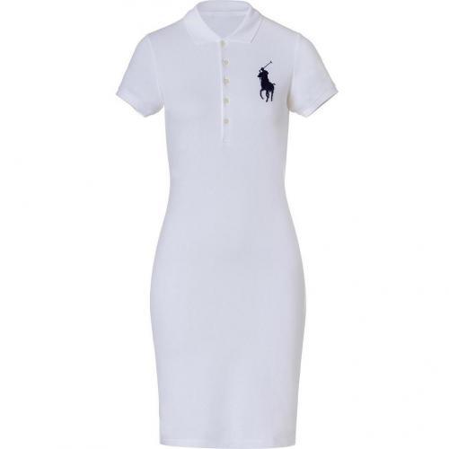 Ralph Lauren White Stretch Mesh English Dress