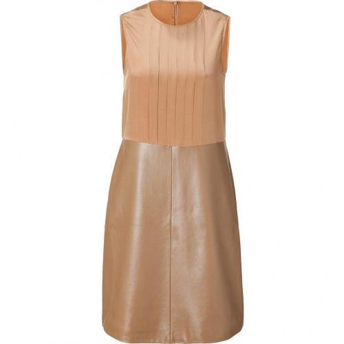 Raoul Cognac Silk/Leather Shift Dress