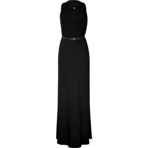 Rika Black Belted Maxi Dress Lynn