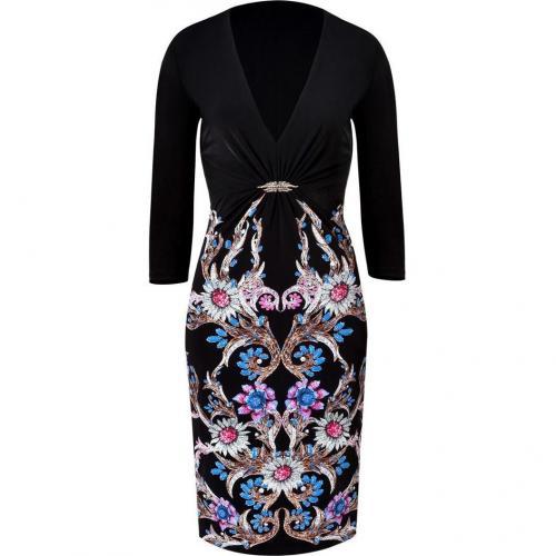 Roberto Cavalli Black-Multi Printed Jubilee Dress