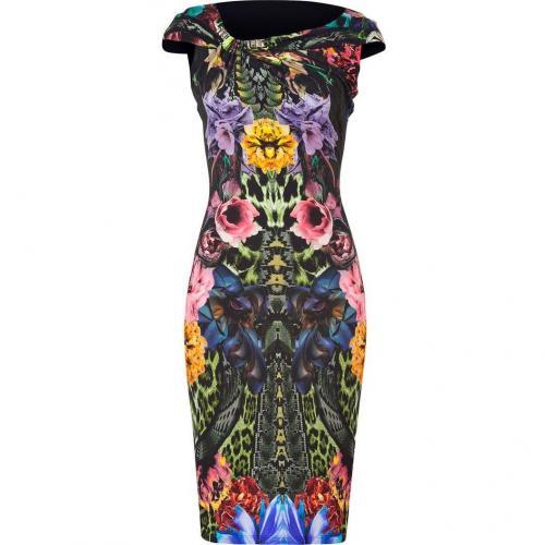 Roberto Cavalli Emerald Wild Carnation Dress