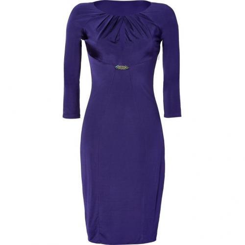 Roberto Cavalli Purple Draped Satin Jersey Dress