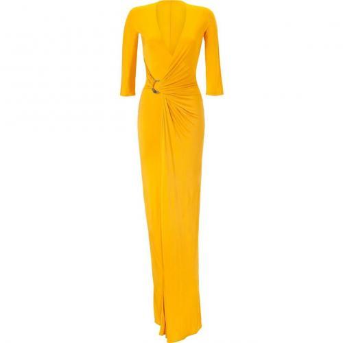 Roberto Cavalli Sunflower Draped Dress