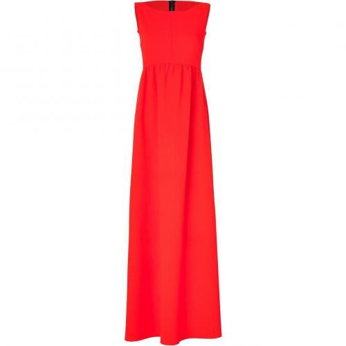 Roksanda Ilincic Fluo Red Double Wool-Crepe Sawter Dress