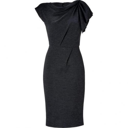 Roksanda Ilincic Grey Heather Wool Sheath Dress
