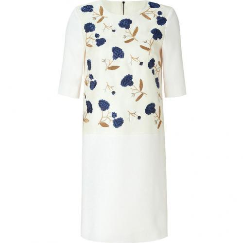 Roksanda Ilincic Ivory Embroidered Sheath Dress