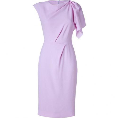 Roksanda Ilincic Lilac One-Sleeve Wool Crepe Dress