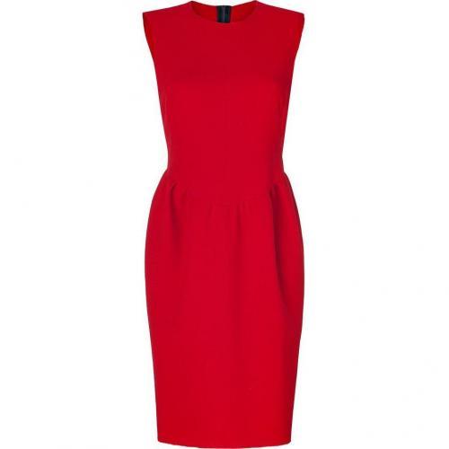 Roksanda Ilincic Ruby Red Double Wool-Crepe Pemberton Dress