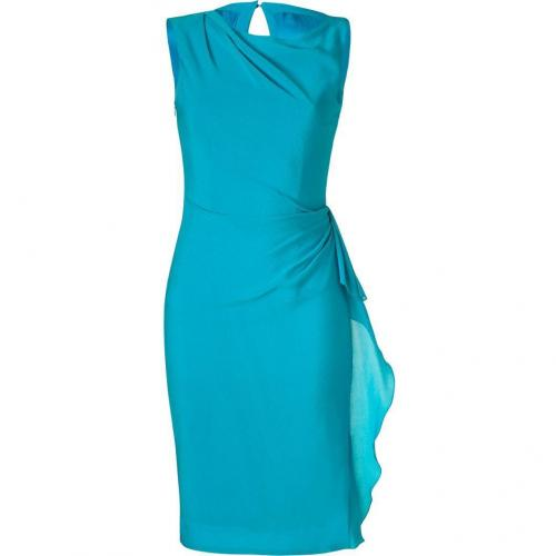 Roksanda Ilincic Turquoise Draped Silk-Gauze Dress