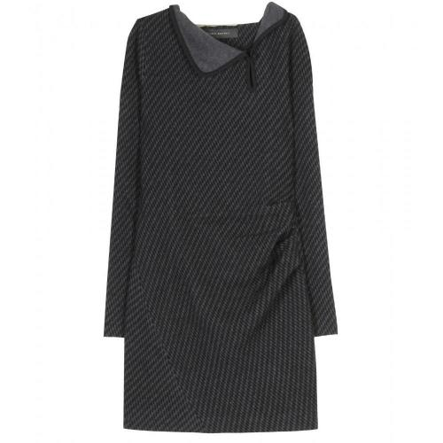 Roland Mouret Toby Wolljersey Kleid Mit Jacquard Muster