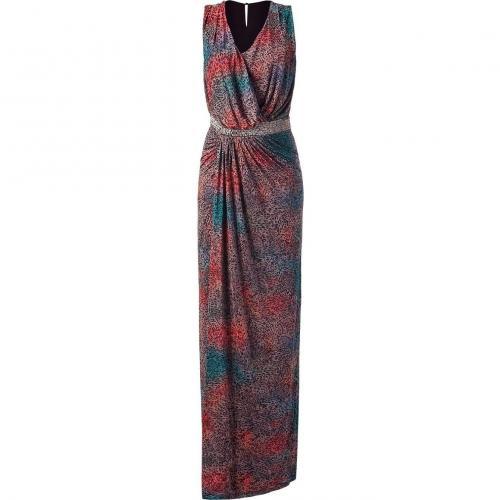 Saloni Multicolor Beaded Maxi Dress