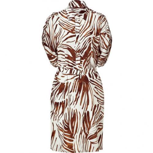 Salvatore Ferragamo Brown Sugar Dolman Sleeve Dress with Belt