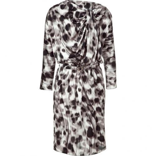 Salvatore Ferragamo Shadow Draped Silk Dress