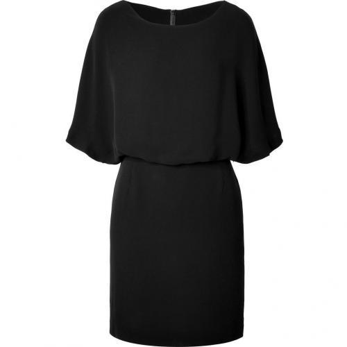 Sandro Black Dolman Sleeve Dress