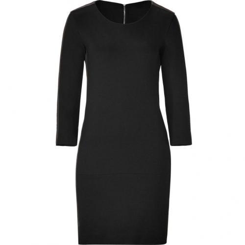 Sandro Black Dress with Leather Trim