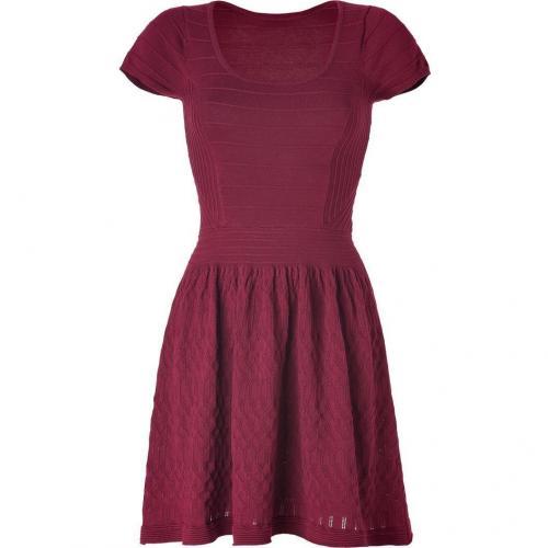 Sandro Claret Patterned Knit Dress