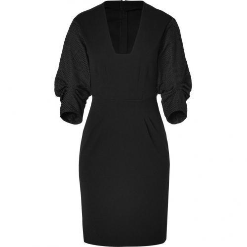 Schumacher Black 3/4 Bishop Sleeve Dress