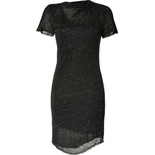 See by Chloé Black/White Marled Kleid