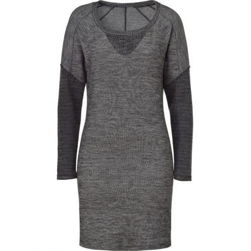 See by Chloé Grey Mélange Wool Blend Kleid