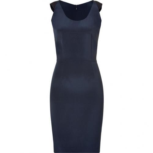 Sophie Theallet Dark Blue 4 Ply Silk Crepe Sheath Dress