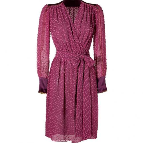Sophie Theallet Plum Blossom Cotton-Silk Belted Wrap Dress