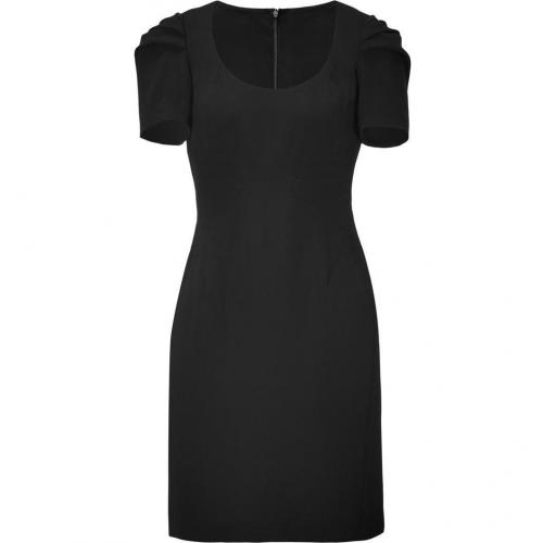 Steffen Schraut Black Pleated Sleeve Brigitte Dress