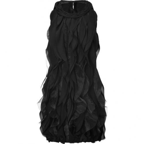 Steffen Schraut Black Ruffled Front Dress