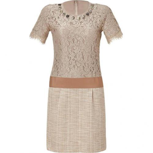 Steffen Schraut Desert Lace Mixed-Media Manhattan Dress