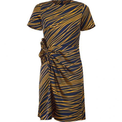 Steffen Schraut Vintage Blue Printed Silk Dress Sunbury