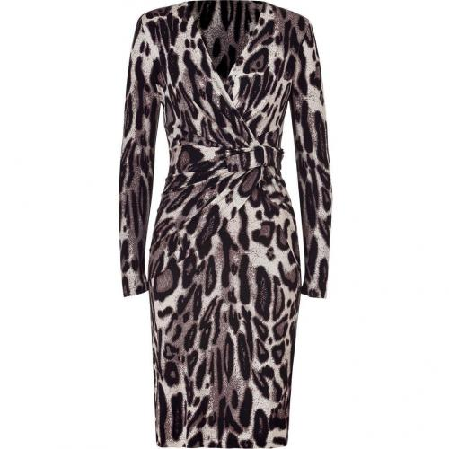 Steffen Schraut Wildlife Printed Miami Drape Silk Dress