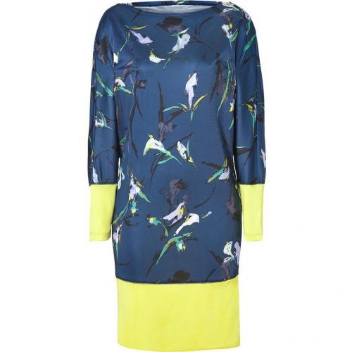 Suno Navy-Multi Dolman Sleeve Jersey Dress