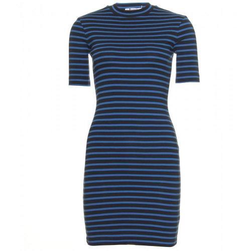 T by Alexander Wang Gestreiftes Kleid Blau