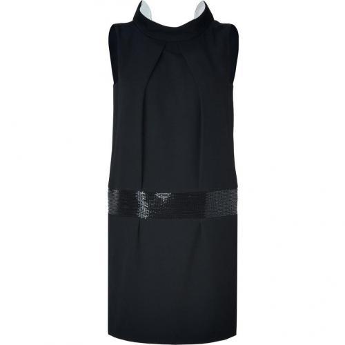 Tara Jarmon Black and White Bead Embellished Dress