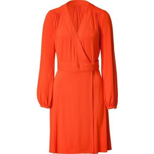 Tara Jarmon Orange Wrap Dress