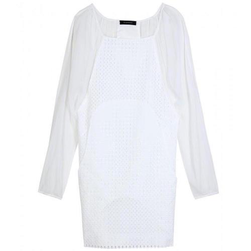 Thakoon Chiffon Combo Cage Dress