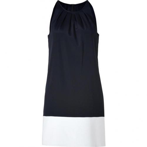 Theory Black/White Charlaine C Stretch Silk Dress