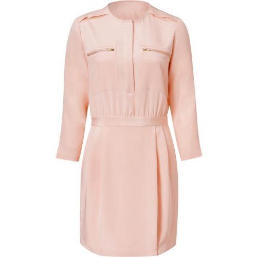 Theory Pink Nude Stretch Silk Brunella Dress