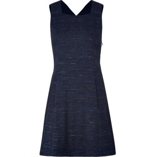 Theyskens Theory Black/Blue Knit Diklah Dress