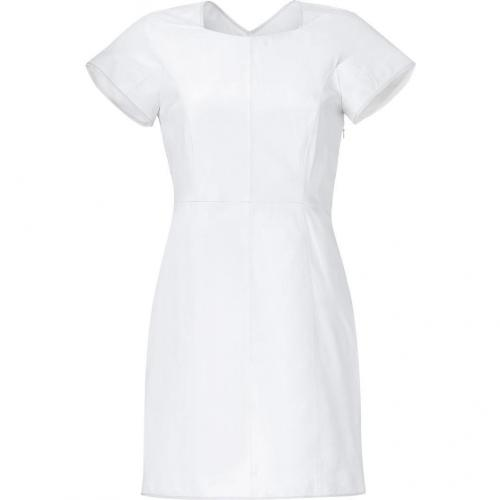 Theyskens Theory White Leather Dress